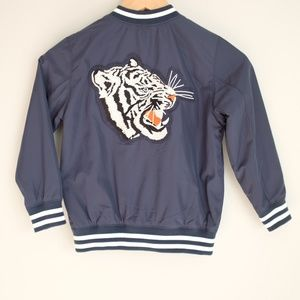 H&M White Tiger Stay Real New York Bomber Jacket